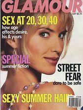 US GLAMOUR JULY 1991 JUDIT MASCO COVER