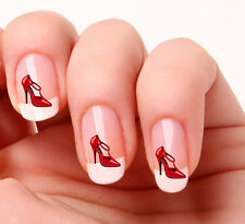 20 Nail Art Decals Transfers Stickers #340 - Red High Heel Shoe