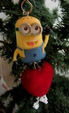 Unique Dave Despicable Me Valentine Velvet Hearts Tree Ornament Decor Hanging