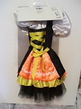 CHILD GIRL SIZE 4 CANDY CORN WITCH DRESS UP TRICK OR TREAT HALLOWEEN COSTUME