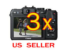 3x Canon PowerShot G15 Camera Clear LCD Screen Protector Guard Shield Film