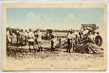 CP 02 AISNE - Camp de Sissonne - Artillerie Lourde - En place pour le tir