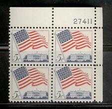 U.S.   #1208   5c FLAG Plate Block of 4, Unused, MNH