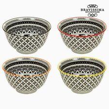 Platos negros de porcelana