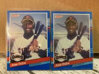 Lot of (2) 1991 Donruss #375 Jose Uribe Birth Year Error And Wrong Middle Name