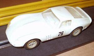 REVELL WHITE  FERRARI GTO 60s   VINTAGE SLOT CAR  1/32