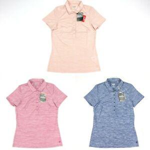 Puma Daily Golf Polo Shirt Heather Peachskin Peacoat Red Womens SZ S ( 595826 )