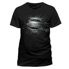 DC Comics Men's Superman Man of Steel Eroded Short Sleeve T-shirt Black Small