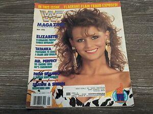 MISS ELIZABETH WWF MAGAZINE Wrestling May 1992 Issue Tatanka/Papa Shango RARE