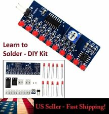 Learn to Solder - Running LED Flow Knight Rider Electronic DIY Kit - NE555+CD401