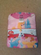 NWT DISNEY PRINCESS TODDLER GIRLS 2-PC SOFT FLANNEL PAJAMAS PINK SIZE 4T