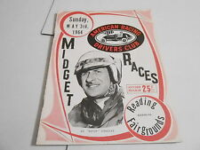 #MISC-2397 CAR RACING PROGRAM - MAY 3 1964 READING PENN. FAIR MIDGET RACE
