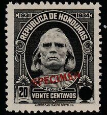 Honduras (1380) - 1931 Columbus 20c FILE COPY SPECIMEN unmounted mint