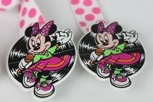 Disney Mickey Minnie Mouse Youth Children Suspenders Pink Polka Dots AVON 1990