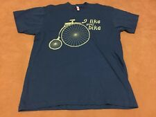 American Apparel i Like your Bike Cycling Penny Farthing Size Xl