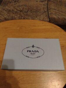 "PRADA  Milano Light Blue Empty Shoe Box  12"" x 7"" x 4.5"" w/Tissue Paper"