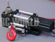 RC Scale Truck ELECTRIC WINCH W/ SWITCH Alloy Metal For Rock Crawler D90 SCX10