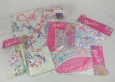 Mattel Barbie Princess Vintage 1990 7 Piece Birthday Party Supplies Set NEW RARE