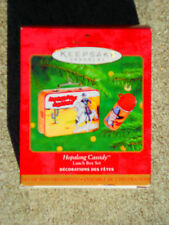 HALLMARK CHRISTMAS ORNAMENT 2000 HOPALONG CASSIDY Lunch Box Set NIB