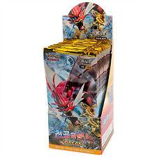 GCC Pokemon XY TURBO Crash EX Display 1 Box 30 Booster Pack 150 Carte in Coreano