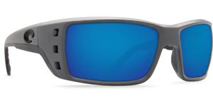 Costa Del Mar Sunglasses Permit Matte Grey Blue Mirror 580G