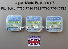 7T32 7T34 7T62 7T92 7T94 7T82 Japan Made Battery For Seiko Quartz