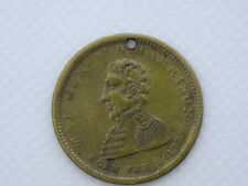 Original 1840 Presidential Campaign Medal William Henry Harrison Log Cabin Token
