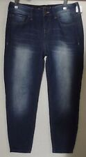 EXPRESS 0 TAPERED BOYFRIEND LOW RISE SOFT KNIT CROP JEANS whiskering womens