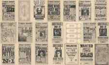 Lot Of 21 Harry Potter The Daily Prophet & Maps Flyer/Poster Prop/Replica Prints
