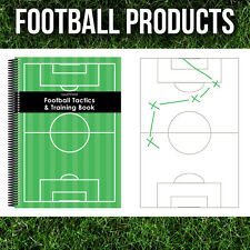 Football Coaches Essentials Tactics Notepads A4, A5 & A6 Training Coaching Book.