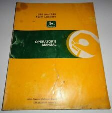 John Deere 240 245 Loader Operators Owners Manual (fits 2020 thru 2750 Tractors)