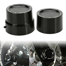 Aluminum Axle Nut Cover Cap Rear For Harley Softail Dyna V-Rod Sportster 883