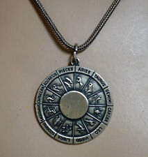 Sterling Silver Pendant Necklace Astrology Signs of the Zodiac