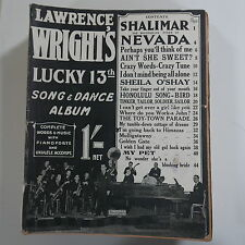 LAWRENCE WRIGHT`s 13th song & dance album , cover feat. the orpheans