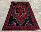 Authentic Hand Knotted Afghan Taimani Balouch Wool Area Rug 5 x 3 Ft (529 HMN)