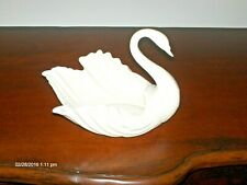 """chLx7 Vintage Lenox Med 6"""" tall Swan Open Bowl candy Dish Gold Wreath 1953-88"""