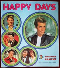HAPPY DAYS ALBUM PANINI 1979 RARO CON 12 FIGURINE ATTACCATE ECCELLENTE
