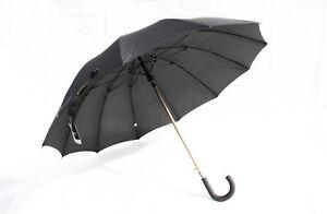 Hochwertiger Regenschirm, Aluminium, 12 Segmente,  Automatik  schwarz   HT3930N