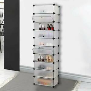 DIY 10 Cube Wardrobe Cupboard Storage Organizer Shelves Unit Hanging Plastic