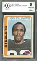 1978 topps #320 JOHN STALLWORTH pittsburgh steelers rookie card BGS BCCG 9