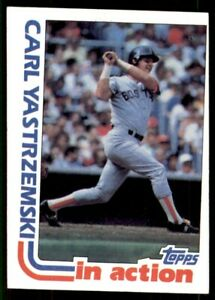 1982 Topps miscut #651 Carl Yastrzemski Boston Red Sox