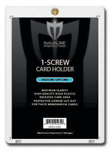 (5) 1 SCREW CARD HOLDERS 120 pt SUPER THICK CARD MAX SPORTS PROTECTORS BASEBALL