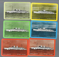"""Playing  SWAP Cards  6 SINGLE """"EAGLE STEAMERS """" SHIPPING  LINE NAMED SET B27"""