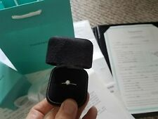 TIFFANY&CO STUNNING.41CT F VVS1 ROUND CUT DIAMOND ENGAGEMENT RING,$5K+ALL PAPERS