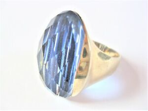 Ring Silver 925 Gold Plated With Color Stone, 14,3 G