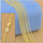 """Wholesale 16-30"""" 5/1PCS 18K Yellow GOLD Filled Rolo CHAIN NECKLACES Jewelry New"""