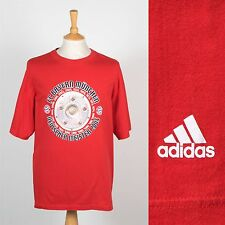 ADIDAS FOOTBALL T-SHIRT FC BAYERN MUNCHEN MUNICH GERMAN SPORT SOCCER RETRO XL