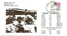 1987 Milwaukee Brewers 12-0 Start First Day Cover