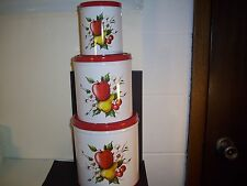 Decoware Canister Set of 3 With Apples, Pears and Cherries