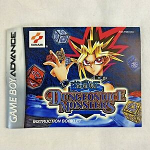 Game Boy Advance Yu-Gi-Oh! Dungeondice Monsters Instruction Booklet Only